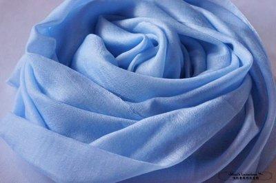 Miao's明星款頂級300支100% cashmere 超美嬰兒藍pashmina Shahmina喀什米爾圍巾披肩