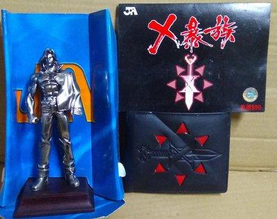 X暴族精品系列之:X暴族銀包(連証書)、X暴族珍藏電話卡、6吋刀仔手辦公仔,馮志明作品,JA出品
