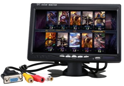 車載 車用 7吋 螢幕 VGA AV IPS螢幕 1024*600 /  車載錄影機專用VGA螢幕/ 航拍/ FPV/ PC螢幕 新北市