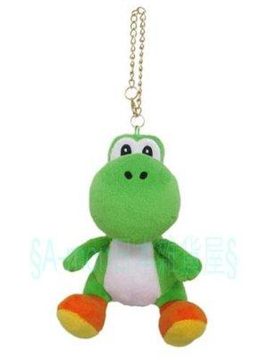 日本進口任天堂Switch 超級瑪利歐兄弟 Super Mario恐龍 耀西Yoshi玩偶公仔吊飾~日本商品