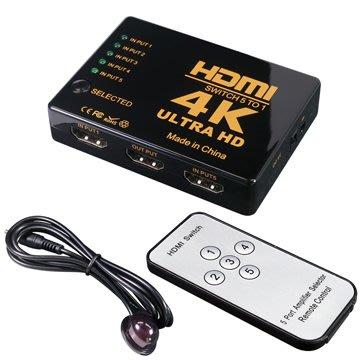 伽利略 HDMI 1.4b 影音切換器 5進1出 + 遙控器 (H4501R)