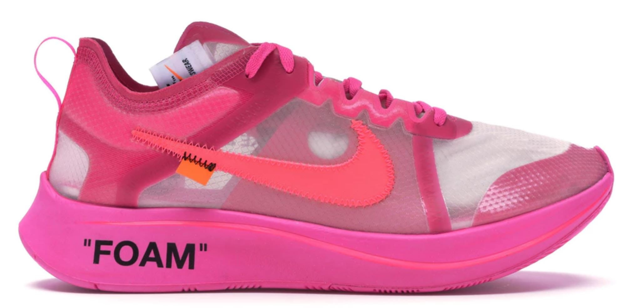 Nike Zoom Fly Off-White Pink US10 現貨