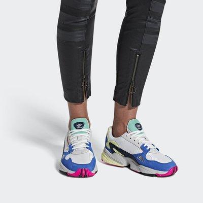 [Roen羅恩代購]  Adidas Falcon W 獵鷹系列 復古女慢跑鞋 老爹鞋 白淺藍