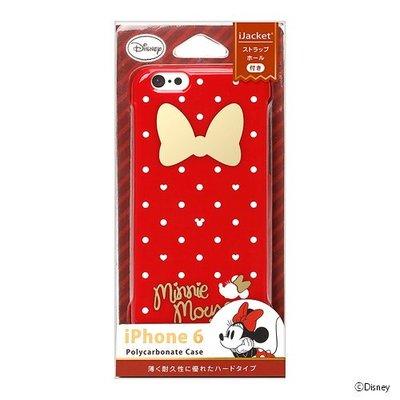 尼德斯Nydus~* 日本正版 迪士尼 米妮 Minnie 硬殼 手機殼 紅色蝴蝶結 4.7吋 iPhone6