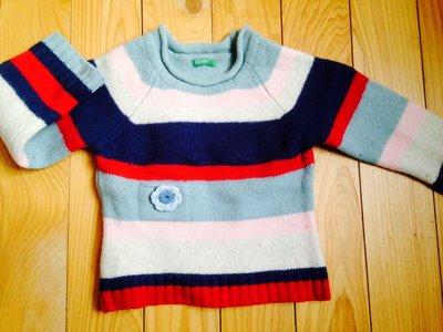 Benetton 正版女童羊毛衣 義大利製$350運50 110-120cm