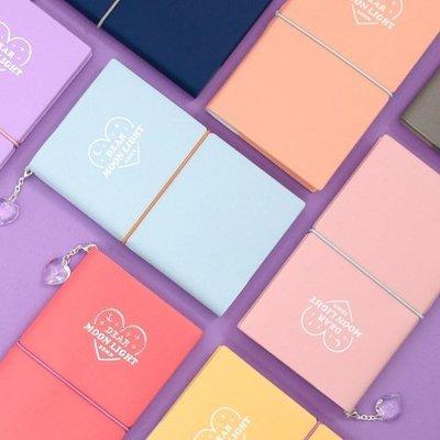 ♀高麗妹♀韓國 SECOND MANSION DIARY 月在我心 週計劃行事曆/自填日期.萬年皮革手帳(預購)