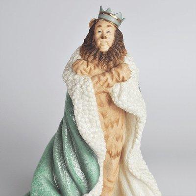 千禧禧居~Lenox The Wizard of OZ 綠野仙蹤Cowardly Lion獅子王陶瓷擺件