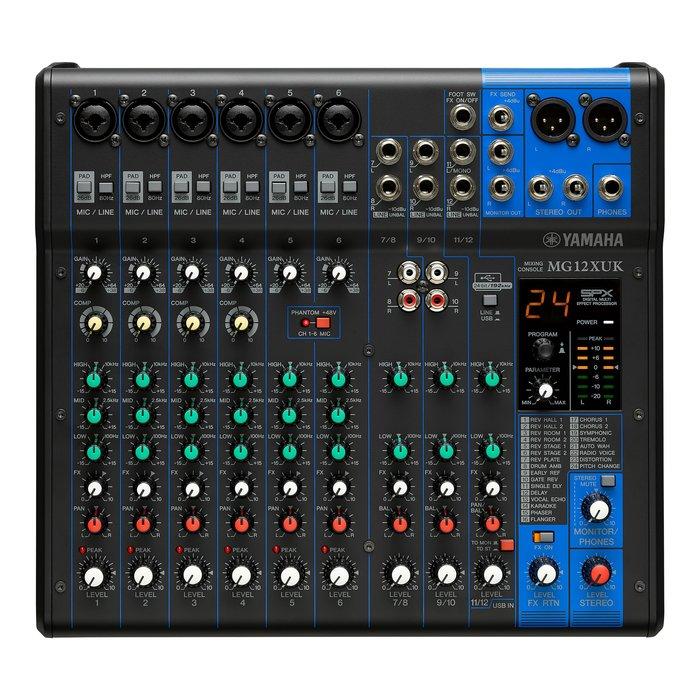 【六絃樂器】全新 Yamaha MG12XUK 混音器 / 舞台音響設備 專業PA器材