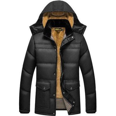 2018新款中年爸爸冬季外套冬裝外套大碼棉襖中老年男士加絨加厚款棉衣外套 預購款