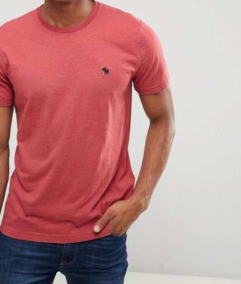 『BAN'S SHOP』Abercrombie & Fitch A&F 短袖T-shirt 小鹿 暗紅色  英國購回