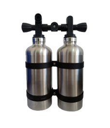 保溫水瓶350ml(雙層不鏽鋼)twintank造型 專利設計氣瓶頭瓶蓋