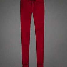 Maple麋鹿小舖 Abercrombie&Fitch * AF 女生紅色合身款牛仔褲*( 現貨2/4號 )