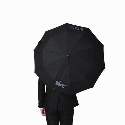 軍工511商務全自動折疊雨傘黑膠學生簡約雙人晴雨傘男女超大