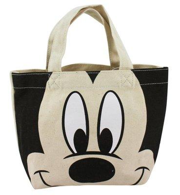 【卡漫迷】 米奇 帆布 手提袋 日版 ㊣版 Mickey 米老鼠 餐袋 便當袋 手提包 外出包 小物 收納袋