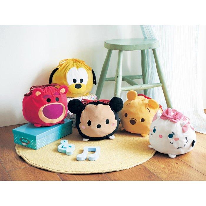 迪士尼Disney《預購》可愛立體束口袋~維尼 熊抱哥 米奇 布魯托 瑪麗貓~日本正品~共5款~心心小舖