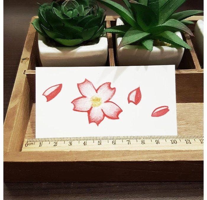 【萌古屋】L系列飄散櫻花 - 男女防水韓風簡約紋身貼紙刺青貼紙K31