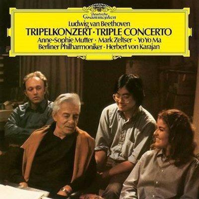 【黑膠唱片LP】貝多芬:三重協奏曲、第七號交響曲 / 慕特 & 馬友友 & 卡拉揚---4838851