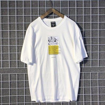 【匠人服飾】嘻哈寬松國潮男生潮牌短袖T恤OVERSIZE日系夏半袖體恤印花TEE