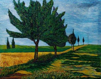 (特價商品)  【台灣人珍瓊-200802】Green trees in the wheat field
