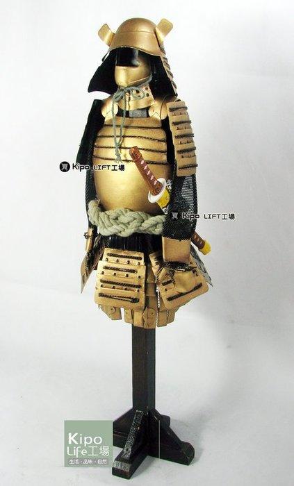 KIPO-餐廳飯店客廳擺飾裝潢日本東洋武士配刀盔甲模型-金色-RHA0071G0A