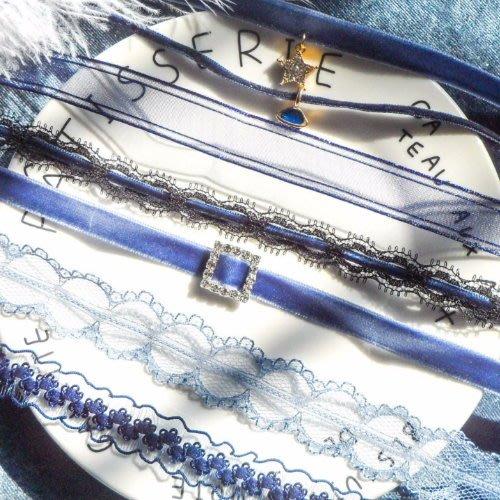 汝果--生活配件屋--【E843】氣質蕾絲 絲絨波浪少女 頸鏈 短款 瑣骨鏈 項鏈