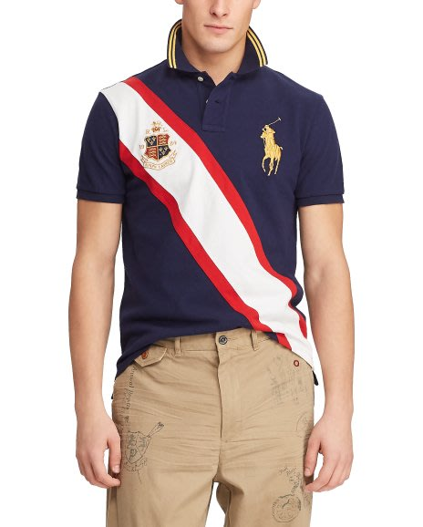 Polo by Ralph Lauren 男款大馬標翻領短袖T恤 百搭時尚潮男裝圖案POLO衫 N438 全館免運