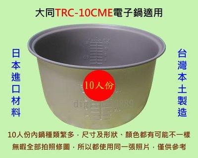 大同 TRC-10CME 電子鍋適用內鍋