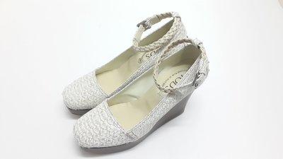 TODS(TOD'S)全新 義大利製 楔型鞋 高跟鞋 厚底鞋 增高鞋 包鞋 保證專櫃真品 可面交檢驗 送口罩一片