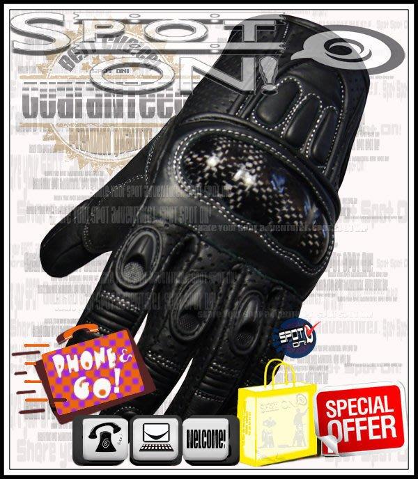 Spot ON - JSG02 真皮 CARBON 手套*1/3 護挽保護!優惠好禮!***** HAYABUSA 雷神
