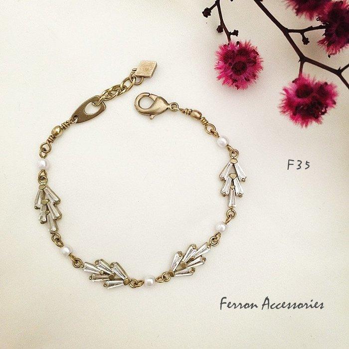 Ferron Accessories   F35  心之所嚮系列手鍊 訂製 Handmade 復古 歐美 黃銅