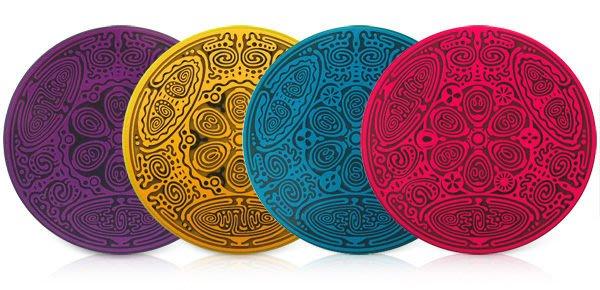 2014年最新上市~神性本質碟四件組(活化你的創造力四元素: 土-水-火-風)免運費