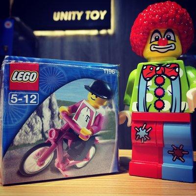 Lego 1196 Biker with Bicycle (Unity Toy)