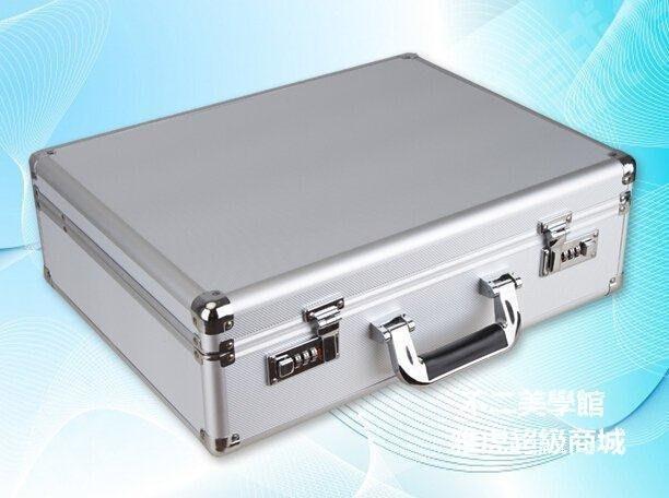 【格倫雅】^大號鋁合金工具箱 密碼箱子 手提箱/證件箱/收納箱 文件箱保險箱26767