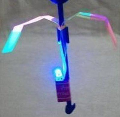 【夜市王】橡皮筋飛箭 直升飛機閃光彈射飛劍玩具 LED umbrella飛天蘑菇 7元