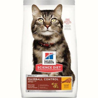 予小舖 希爾思 hills 希爾斯 毛球控制 專業照護 15.5磅 成貓專用 7歲以上 貓飼料 雞肉配方 貓用乾糧 8877
