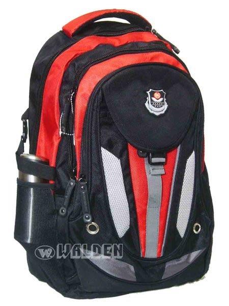 【葳爾登】long king休閒包登山包旅行袋,後背包,電腦包側背包露營包人體工學登山背包8724紅