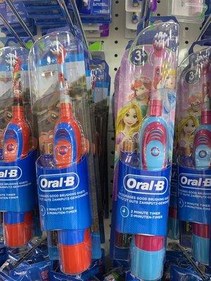 德國代購 現貨含運 Oral-B 德國原裝 百靈歐樂B 電池式 兒童電動牙刷,兒童刷頭3歲以上適用,公主款。