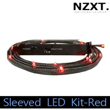 小白的生活工場*NZXT Sleeved LED Kit-Red 機殼用LED燈條 (紅)  2 m/24 LEDs