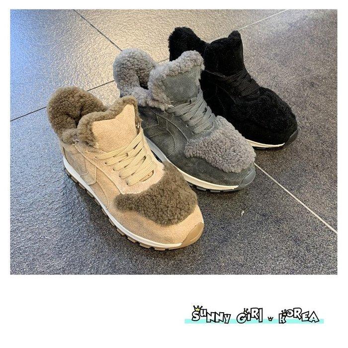 正韓休閒鞋*Sunny Girl*韓國代購加絨保暖RILLA運動鞋 2019十二月新款 - [WH1428]