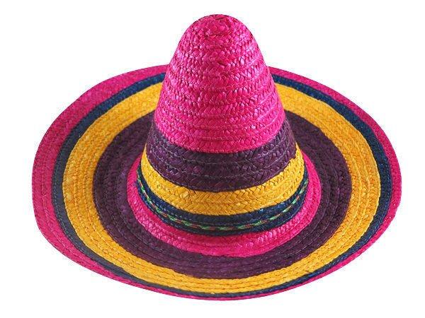 ☆二鹿帽飾☆  ( 彩虹)小墨西哥帽(44cm) 遮大太陽 (幼稚園/學校表演專用帽)