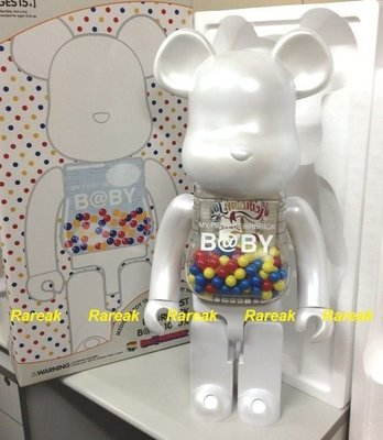Medicom Bearbrick My First Baby Meets 千秋 1000% Pearl White B@by Be@rbrick (全新)