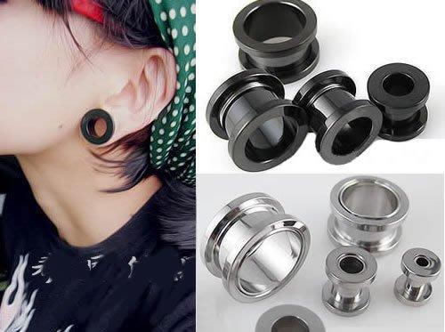 ☆追星☆ 952兩色可選(0.5/0.6/0.8公分)耳擴器 耳環(1個)西德鋼 擴耳器 擴洞耳環 體環 穿刺藝術