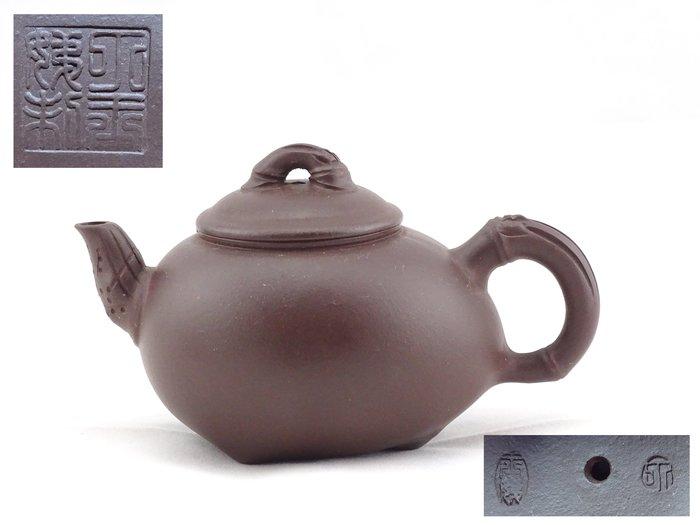 [[ 茶壺 ]] 紫砂 廠壺 小竹壺(No.6) 早期珍品,喜歡就帶走