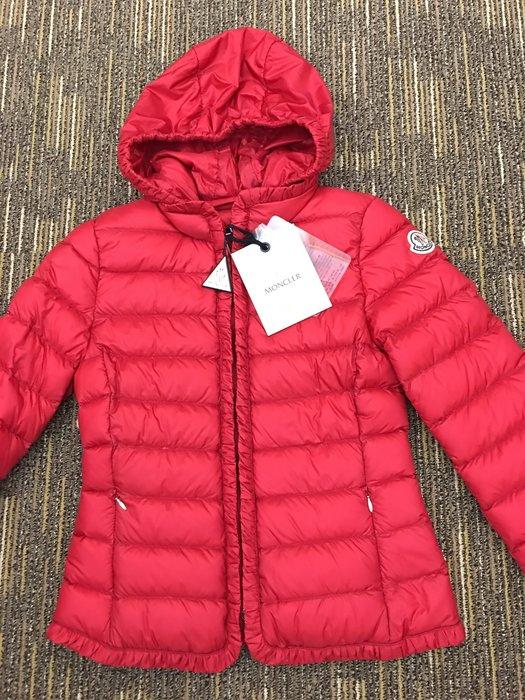喬瑟芬【MONCLER JUNIOR】現貨~2012早春法國羽皇 女童12A 超輕量 MAYOTTE 紅色 羽絨夾克外套