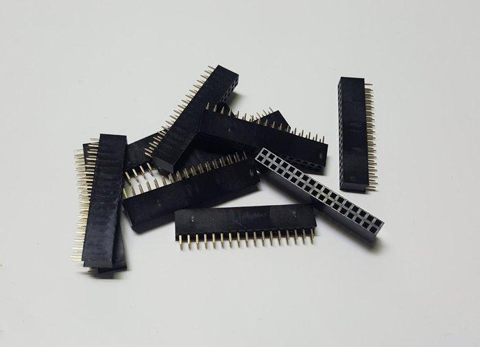 瘋 ~  插座 100顆 插針 2*17 雙排針母座 180度 雙排針 100顆