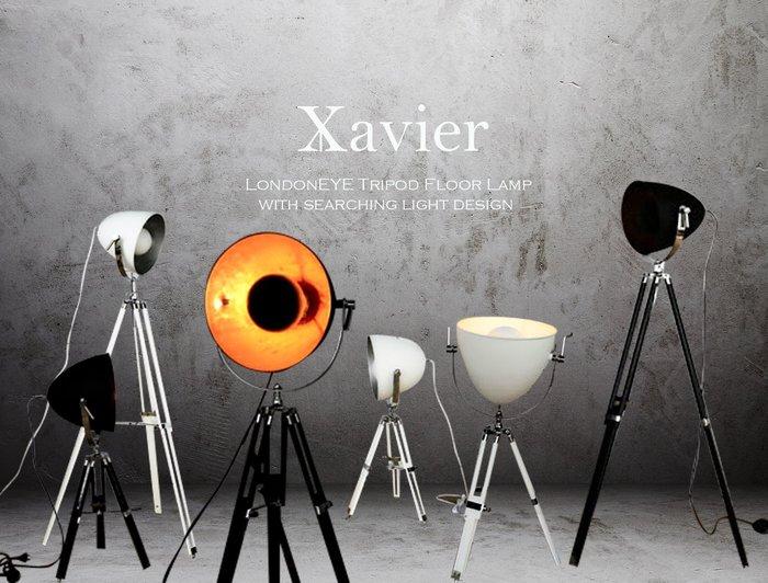 【LondonEYE】Xavier Vintage Lamp三腳架影棚落地立燈工業風/LOFTX烤漆金箔鐵件《116》
