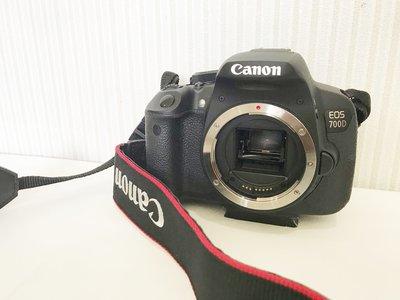 二手相機 台灣公司貨 CANON 700D 單機身 9.9成新 只要11800