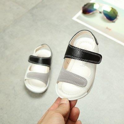 售完即止-夏季0-1-2-3-4歲男女寶寶鞋嬰兒軟底學步鞋包頭涼鞋兒童鞋小皮鞋8-31(庫存清出T)