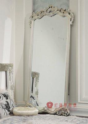 [紅蘋果傢俱] XGL-083 歌德系列 新古典 歐式 法式 立鏡 鏡子 造型鏡 裝飾鏡 工廠直營
