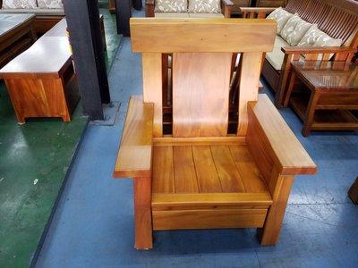 鴻宇傢俱~班尼牛100%桃花心木自然邊全實木木板椅-單人座~促銷優惠價~另有折扣價